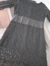 Vestido social preto