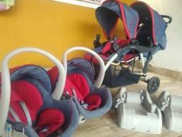 Carrinho de bebê Gêmeos, Completo, Galzerano