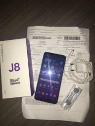 Samsung j8 64 gb / smartphone com 6 meses de garantia / ram 4 gb, extra e completão