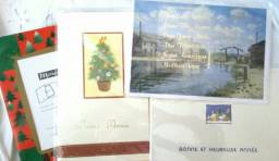 Cartões de Natal franceses