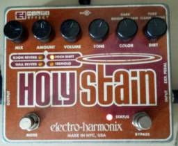 Pedal de guitarra Ehx Holy Stain Reverb Pitch Tremolo Drive Distortion