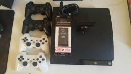 PS3 Slim 250GB 12 Jogos 4 Controles