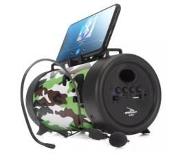 Caixa De Som Bluetooth Microfone D-p8 Usb Mp3 Fm com Alça 23cm