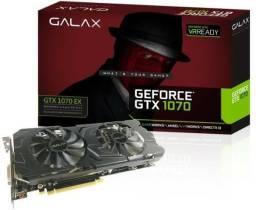 Placa De Vídeo Nvidia Geforce Gtx 1070 Ex 8gb Ddr5 Galax