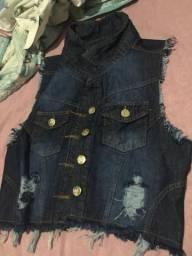 Colete Jeans Novo