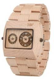 Relógio de Madeira Sustentável - Jupiter Beige