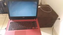 Notebook Acer vermelho. Ótimo estado de conservação