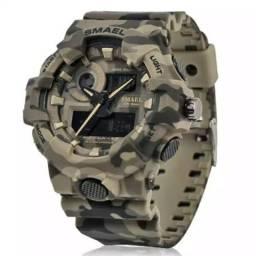 f38a8ae77a6 Relógio Militar S-Shock Smael Original Camuflado