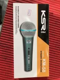 Microfone dinâmico KM-58 novo