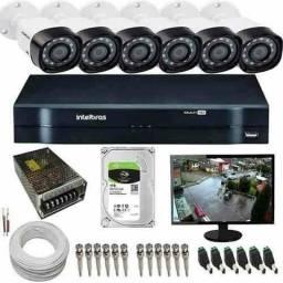 Kit intelbras 8 câmeras G5 HD ideal pra sua casa / instalação grátis