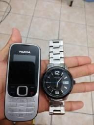 Relógio technos e celular nokia