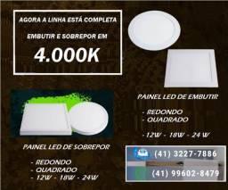 Iluminação LED Plafon Sobrepor e Embutir