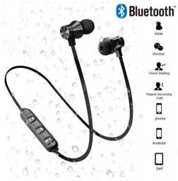 Magnético fone de ouvido sem fio bluetooth com microfone