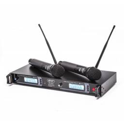 Microfone Sem Fio Com Base Receptora Kp-U913