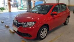 Renault Sandero Expression 1.0 2016 Vermelho Completo, Excelente Estado de Conservação