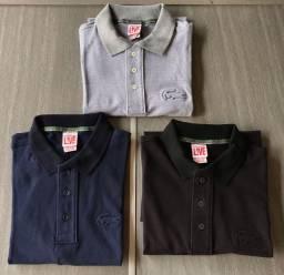 Kit 3 camisa polo