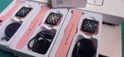 Título do anúncio: Relógio smartwatch ( faz e recebe ligações ) / rosa