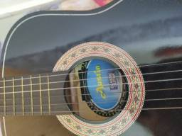 Título do anúncio: violão preto austin + mais uma capa de proteção