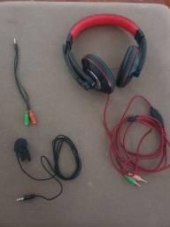 Título do anúncio: Kit head set, adaptador e microfone lapela