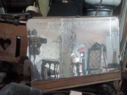 Espelho de cristal antigo de penteadeira