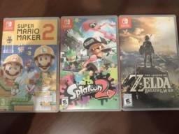 Título do anúncio: Splatoon 2, zelda e Mario Maker 2