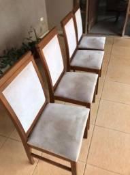 Título do anúncio: 4 cadeiras de mesa de jantar usadas