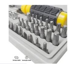 Título do anúncio: Kit 40 Bits + Chave Fenda Com Catraca e Adaptador _ T78