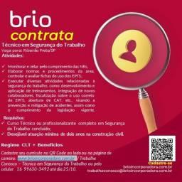 Título do anúncio: Técnico em Segurança do Trabalho - Ribeirão Preto