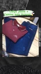 Título do anúncio: Calça jeans + Camisa Polo