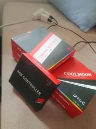 5 FANS COOLMOON RGB EDITION + CONTROLADORA - NOVAS
