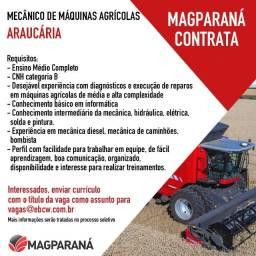 Título do anúncio: Vaga mecânico de máquina agrícolas