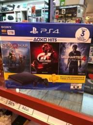 Título do anúncio: IMPERDÍVEL !! PlayStation 4 com 3 jogos + 1 ano de garantia !!