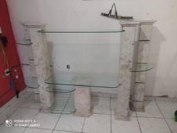 Título do anúncio: Estante de mármore com vidro