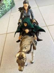 Senhor dos Anéis - Frodo, cavalo e Éowyn