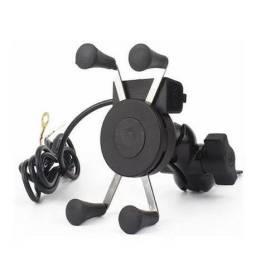 Carregador + suporte para moto