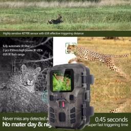 Câmera Trilha Caça Foto Video Visão Noturna Com Visor Hd