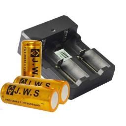 Carregador Duplo bateria 26650, 22650, 18650, 16340