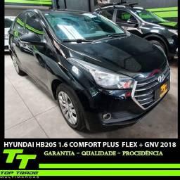 Hyundai HB20S 1.6 Comfort Plus Flex GNV Automático 2018 (Pouco Rodado)