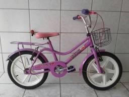 Bicicleta infantil feminina aro 16 seminova