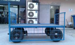Carrinho para transporte de cargas manual, 4 Rodas
