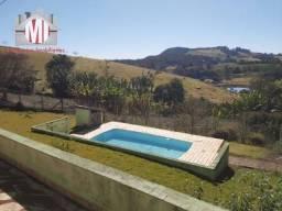 Chácara com linda vista, escritura, 2000 metros, 04 dormitórios, pomar e piscina