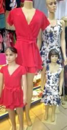 Macaquinho ,vestido mãe e filha