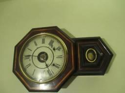 Relógio de parede antigo, americano, marca Seth Thomas