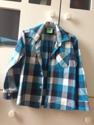 Camisa xadrez menino