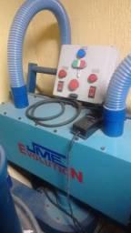 Maquina de triturar lampadas fluorescentes - Reciclagem de vidro e material contaminante