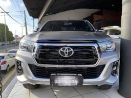 Toyota Hilux SRX 2.8 turbo diesel ano 2019 prata - 2019