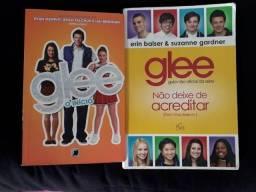 2 livros Glee - Glee: O Início e Guia não oficial da 1 e 2 temporada