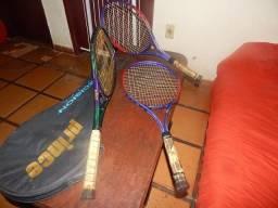 Racket de tênis de quadra prince em carbono perfeito estado .
