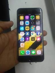 IPhone 6 64g preto com dourado