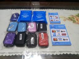Kit maquininha de cartão com bolsa e adesivos